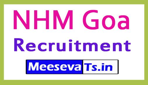 National Health Mission NHM Goa Recruitment