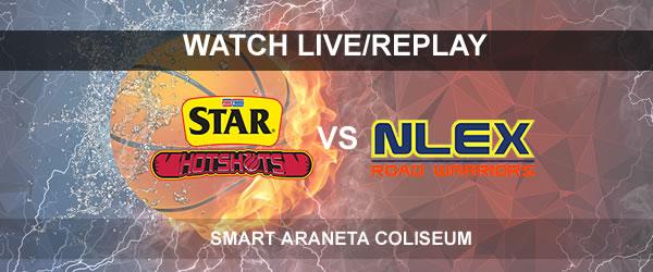 List of Replay Videos Star vs NLEX September 24, 2017 @ Smart Araneta Coliseum