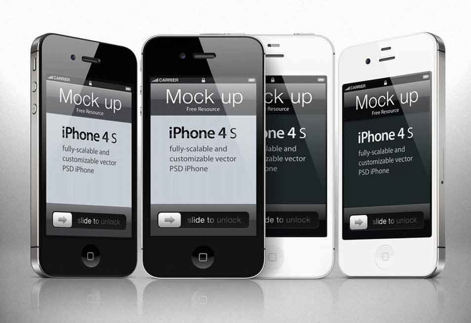 iPhone 4s Mockup Template