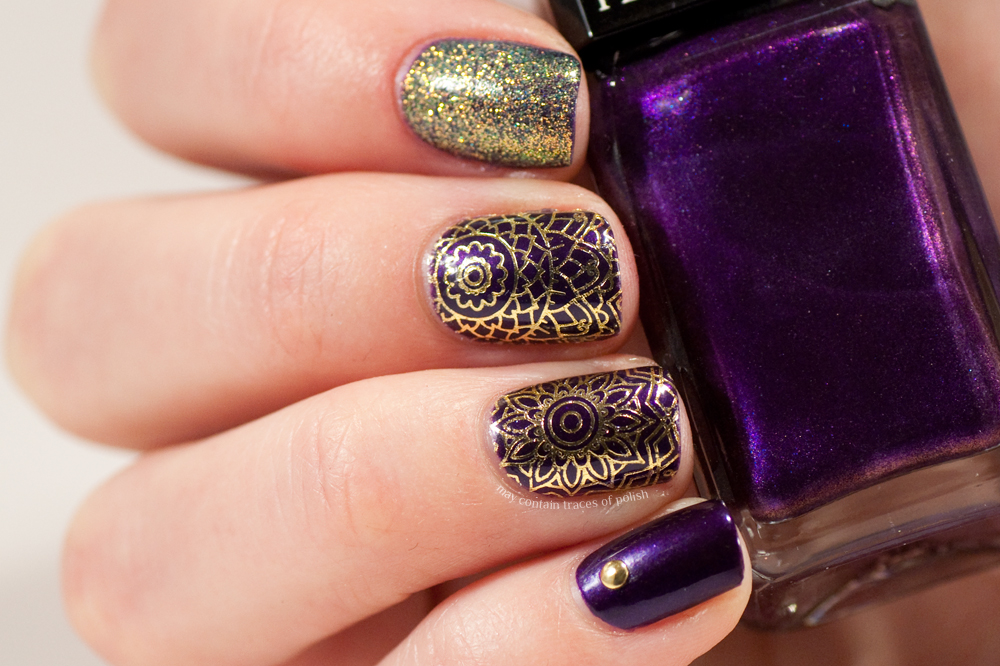 Purple And Gold Nails May Contain Traces Of Polish