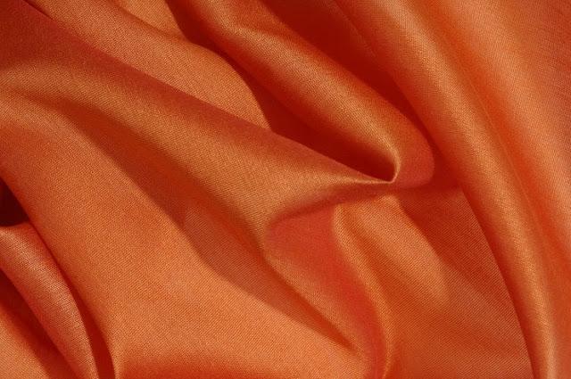 Sunset Orange Cotton Silk Fabric