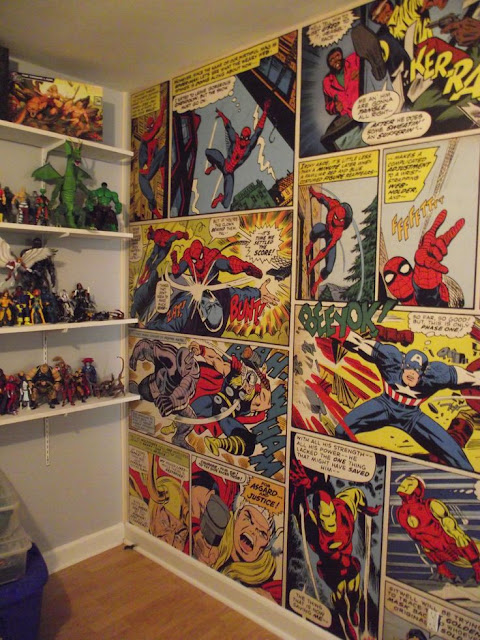 Childrens wall murals Marvel Comic Strip
