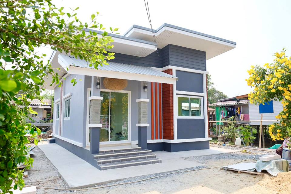 If you are searching for a housing project, this post will take you through two houses with their beautiful interiors.  These houses will inspire you when it comes to choosing the design or architecture for your own home. With this design, you might possibly find a house that matches your needs.   This first house is a modern home designed by SK Construction. It has a three-bedroom — enough for a small family up to five members. It has one shared bathroom, a kitchen, a spacious living room. It has a total area of 104 square meters.  The second house is also designed by SK Construction. It has two bedrooms, one bathroom, one large hall, kitchen, living room. Total floor area is 49sqm!  Scroll down and let yourself be inspired by these house designs and their interiors!