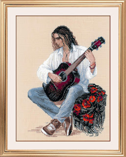 Cross-stitch Riolis 1766 «Guitarist»