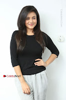 Telugu Actress Mishti Chakraborty Latest Pos in Black Top at Smile Pictures Production No 1 Movie Opening  0054.JPG