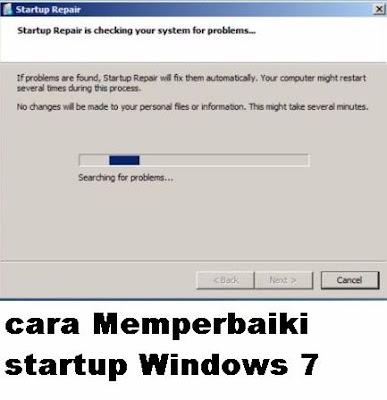 Pada saat menggunakan laptop atau komputer pernahkah kamu menemukan kendala pada laptop y cara Memperbaiki startup Windows 7 tanpa Menggunakan DVD Instalasi