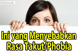 Inilah Penyebab Phobia atau Rasa Takut Berlebihan
