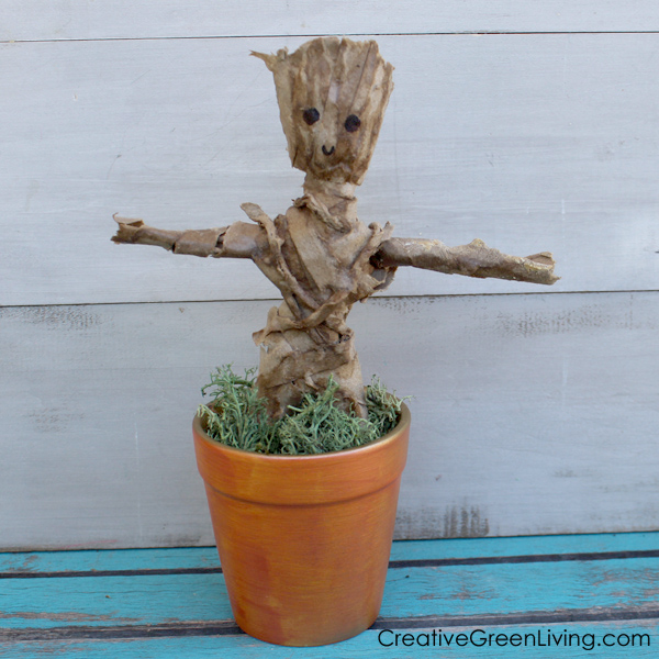 DIY Guardians of the Galaxy craft - how to make a Groot chia pet inspired planter