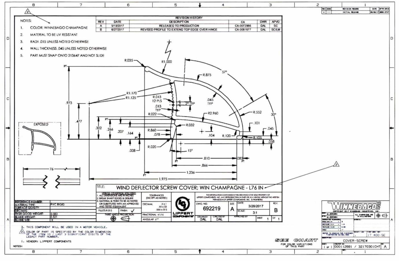 The conFUSEd RVer: Cabin Door Noise fix from Winnebago