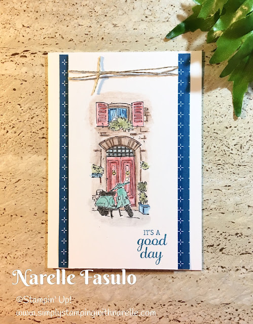 Mediterranean Moments and Watercolour Pencils - Simply Stamping with Narelle