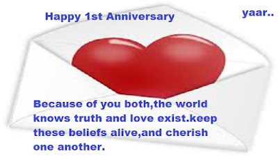 Happy 1st Anniversary Letest Quotes With Images |