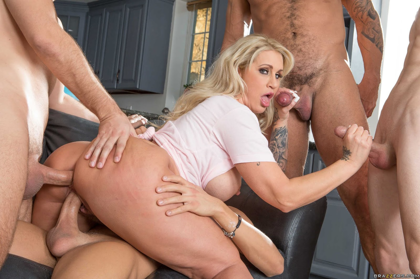 Milf striptease fuck dominant milf gets a creampie after anal sex