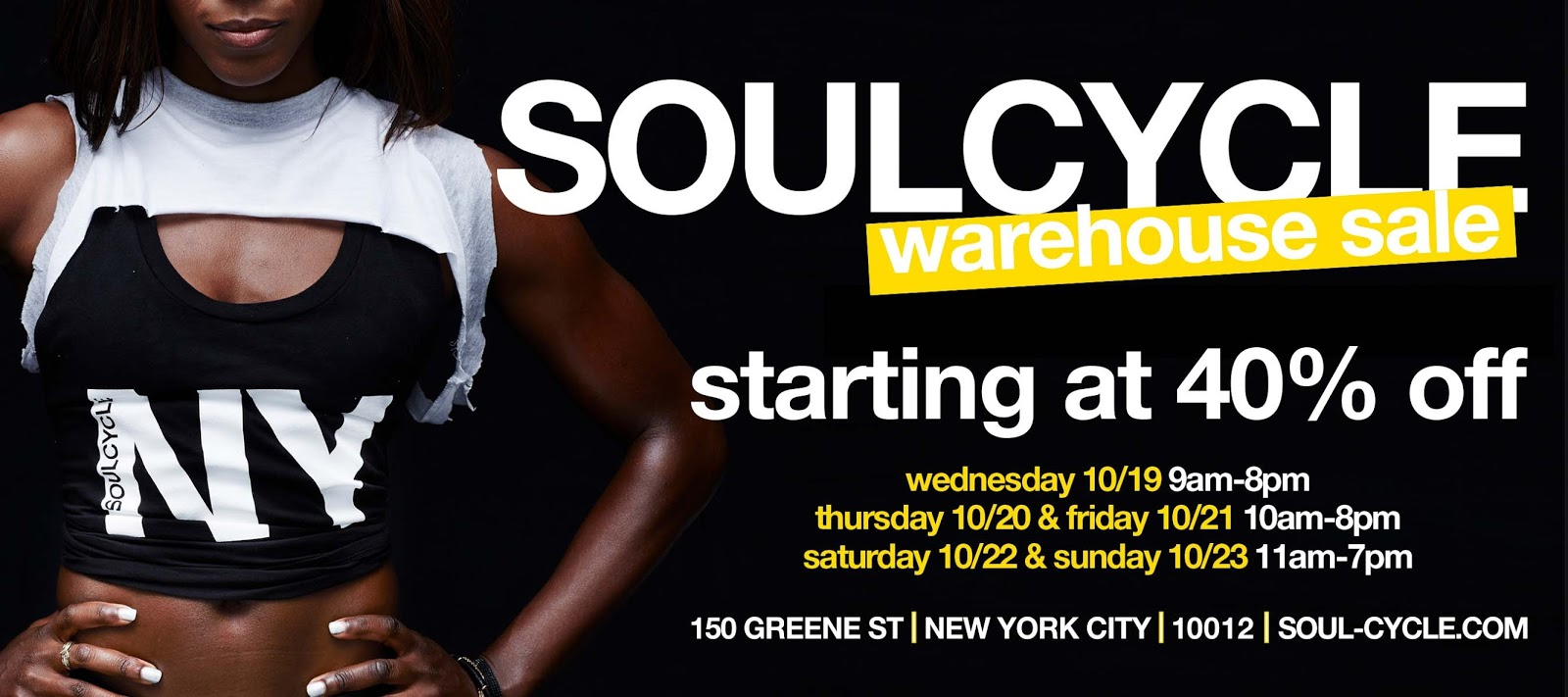 fashionably petite: SoulCycle Warehouse Sale - 10/19 - 10/23/16