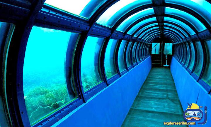 aquarium bawah laut di pulau putri