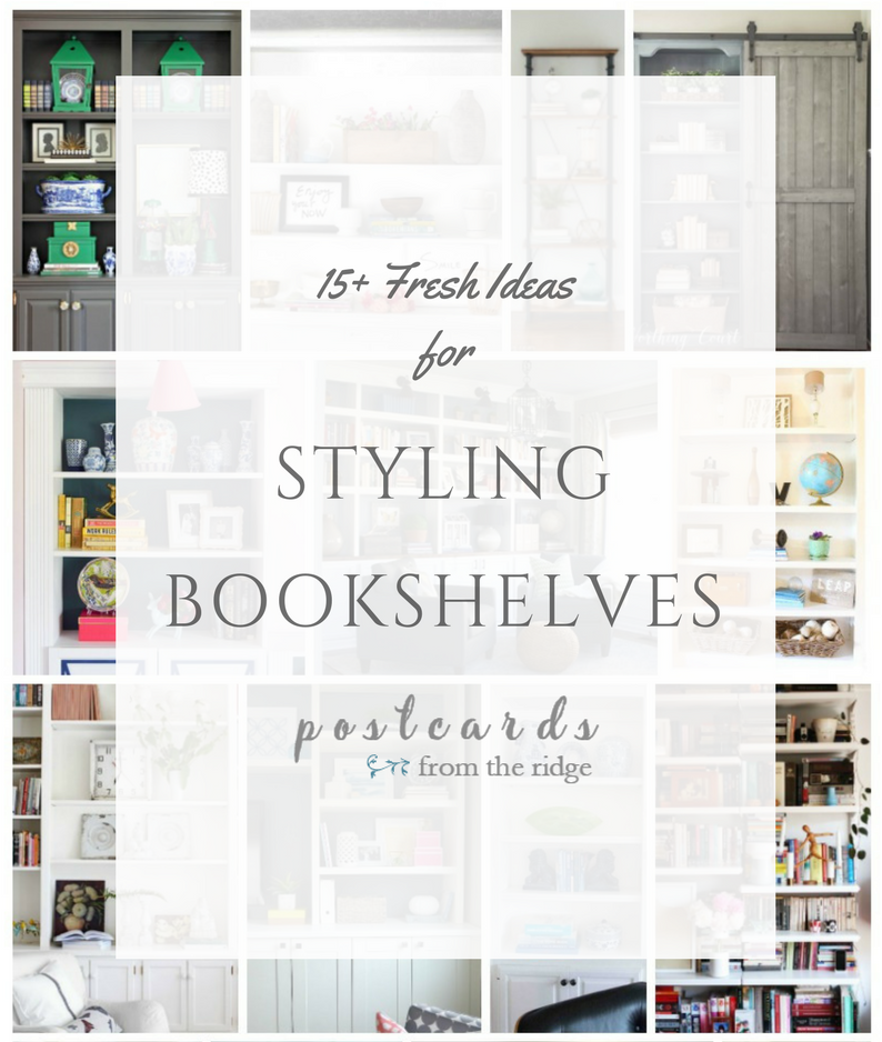 15 styled bookcases