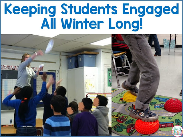 Ideas for keeping students engaged and active during the winter months. Ideas are perfect for the special education classroom.