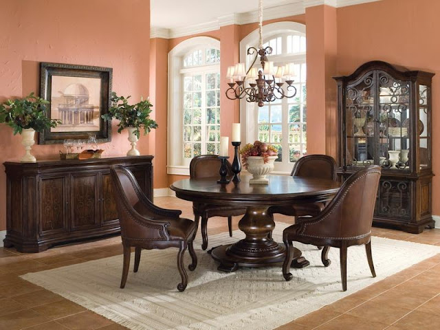 Modern Room with Round Dining Tables Modern Room with Round Dining Tables 5