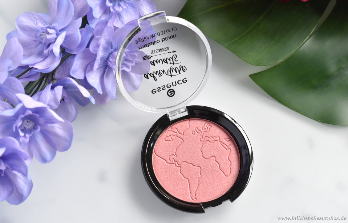 Review und Swatches - essence adventure awaits - get sunkissed Trend Edition - metallic blush wanderlust feeling
