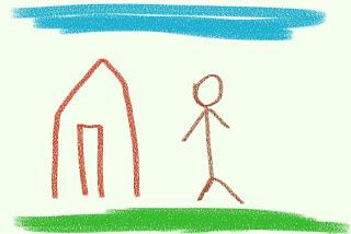 come i bambini disegnano il cielo