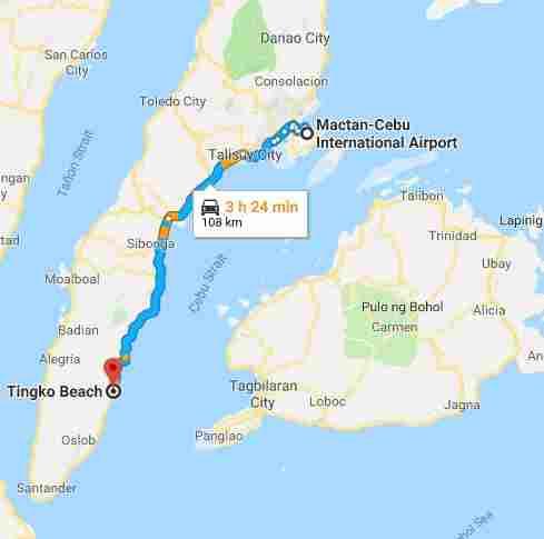 Tingko Island white beach cebu philippines 2018 map mactan cebu international airport map