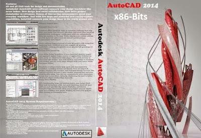 Autodesk AutoCAD 2014 x86-Bits DVD Capa