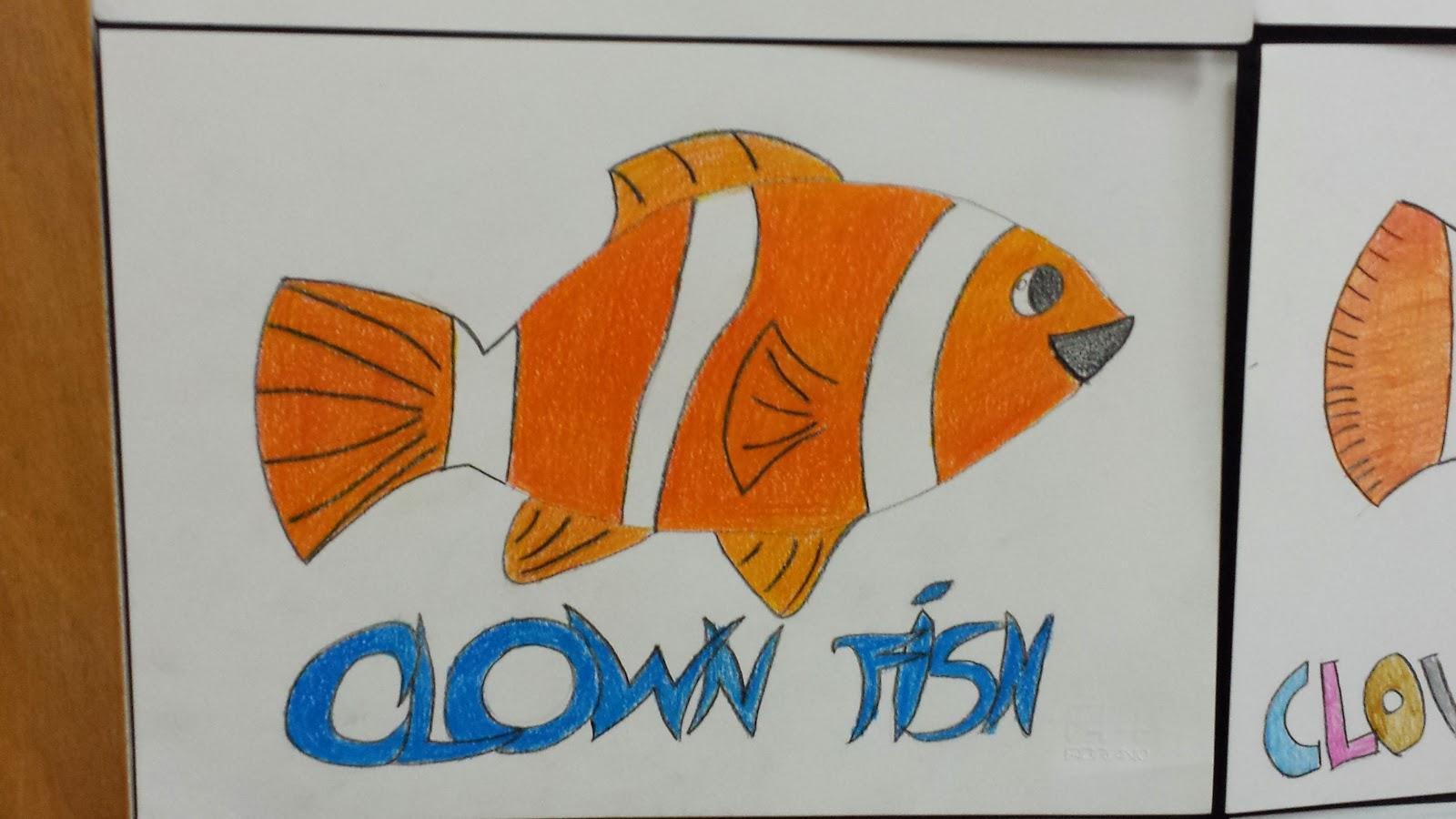 Drawing Clown Fish