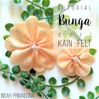 tutorial bunga felt, bros bunga felt, aksesoris bunga, aksesoris hijab