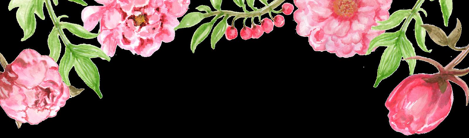Fundo do cabeçalho com flores para download