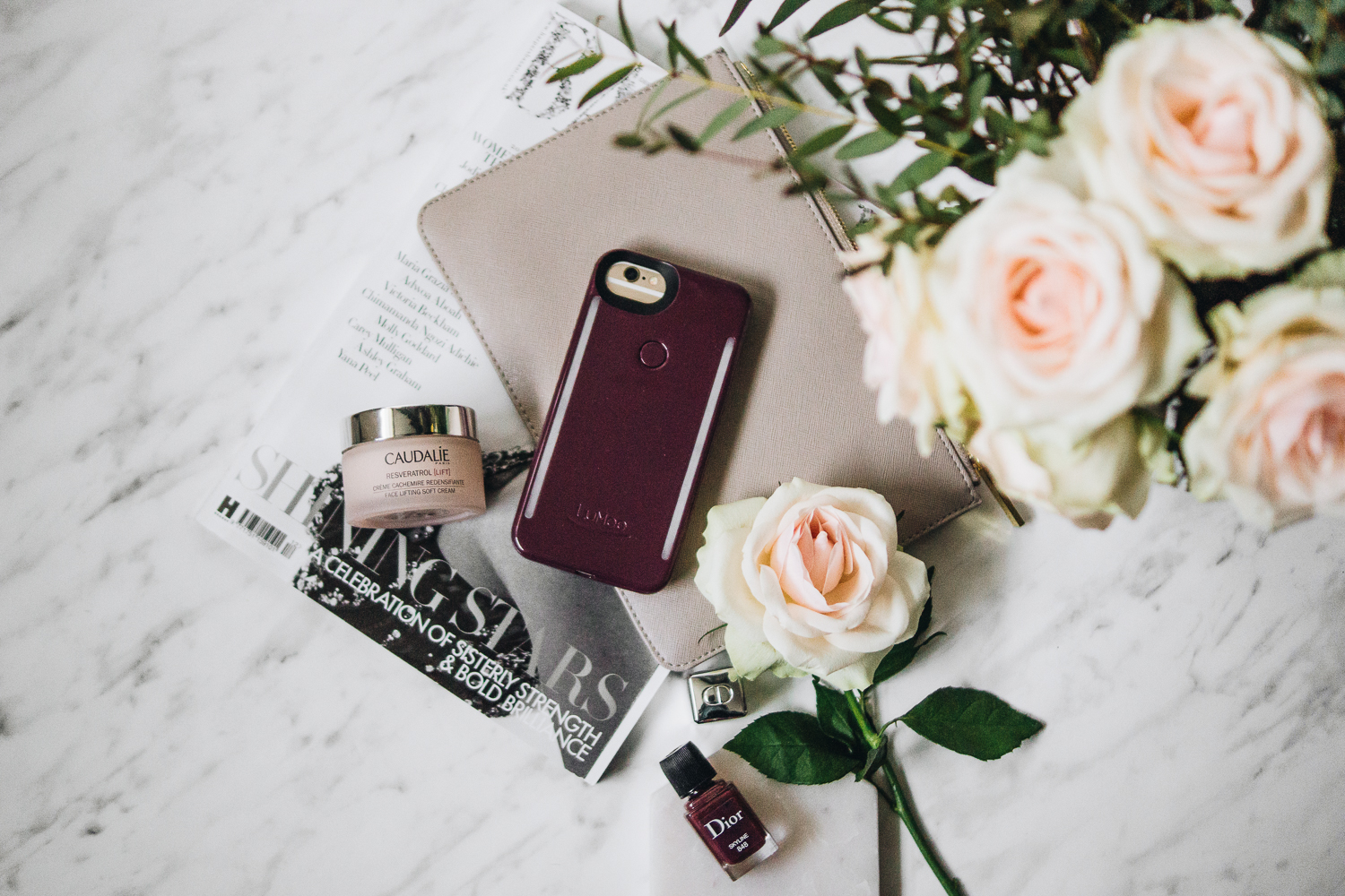 winter-photography-tips-barely-there-beauty-blog-flatlay