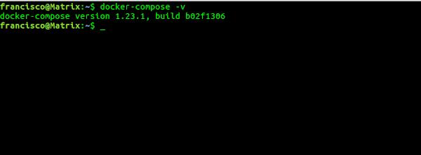 Verificação Docker Compose instalado