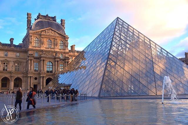 pyramid, fountain, paris