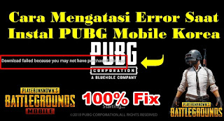 Cara Mengatasi You May Not Purchase This App PUBG Mobile Korea