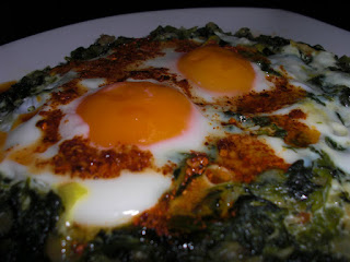Spinach with Eggs (Yumurtali Ispanak)