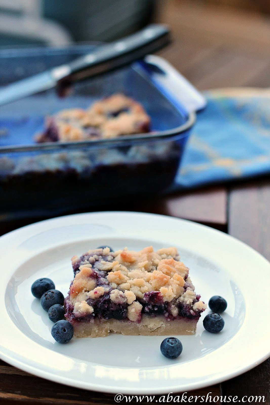 Blueberry squares from Holly at A Baker's House
