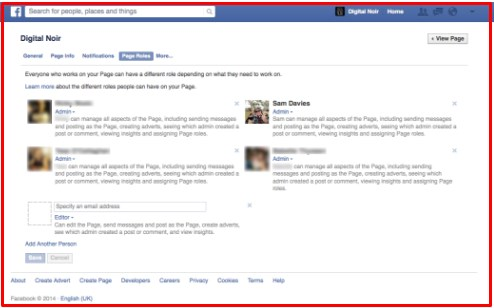 can add admin on facebook page
