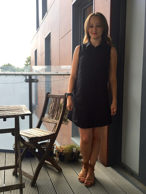 Diary of a Chain Stitcher: Black Linen Grainline Alder Shirtdress