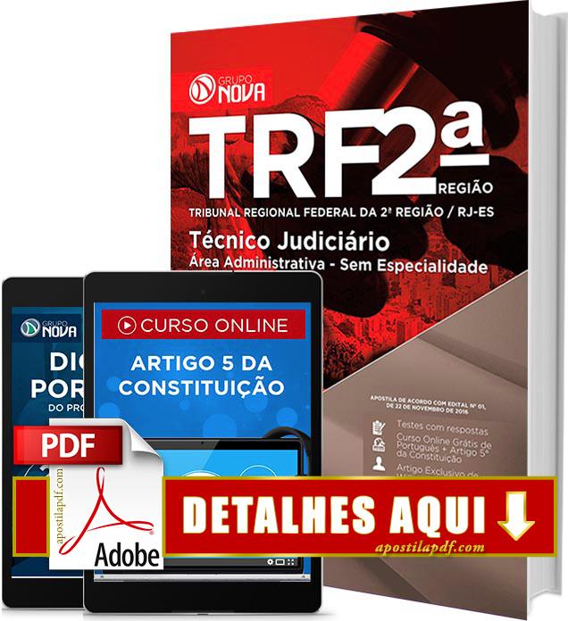 Apostila TRF 2 Região PDF Impressa Técnico Judiciário