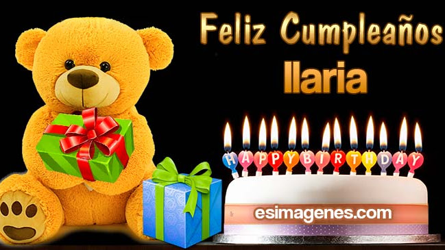Feliz Cumpleaños Ilaria