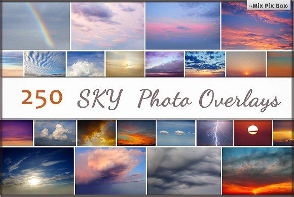 250 Sky: 250 lớp ảnh trên bầu trời có độ phân giải cao (kích thước khác nhau khoảng 4500x2700px ở mức 300dpi jpeg)