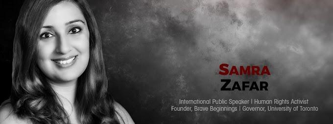 Samra Zafar, la mujer que se casó con 16 años, ahora activista