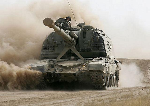 Resultado de imagen de obus 152 mm sobre el  T-72.