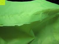 Verarbeitung: Regenschutz für Rucksäcke Rucksackschutz Ranzen Regenschutz Rucksackcover Regenüberzug Neon Sicherheitsüberzug Reflektorüberzug