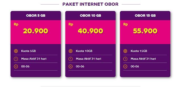 Internetan Dini hari Dengan Paket Kuota Internet OBOR dari AXIS