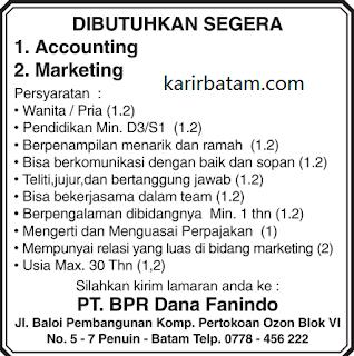 Lowongan Kerja PT. BPR Dana Fanindo