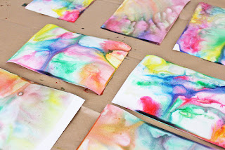 marble art cards summer fun for kids