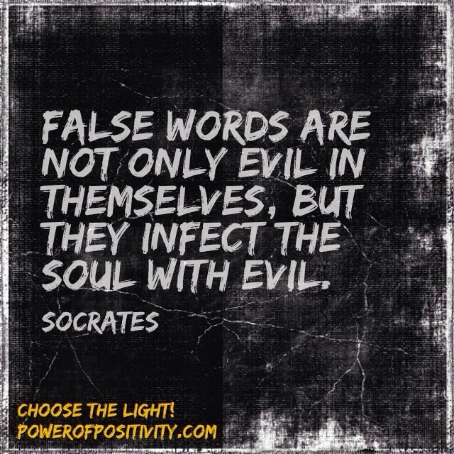 MOTIVATION 15 Best Socrates Picture Quotes - False words are not only evil in themselves, but they infect the soul with evil. - Socrates