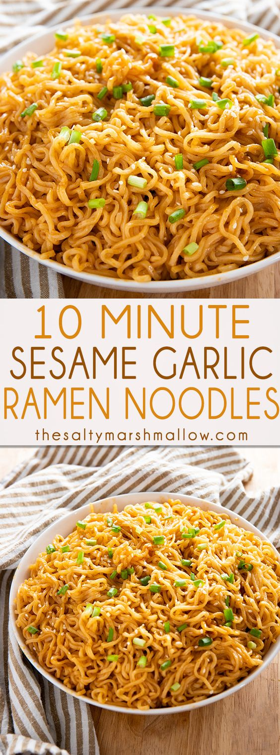 SESAME GARLIC RAMEN NOODLES RECIPE #sesame #garlic #ramen #noodles #ramenrecipes #tasty #tastyrecipes #deliciousrecipes #deliciousfood