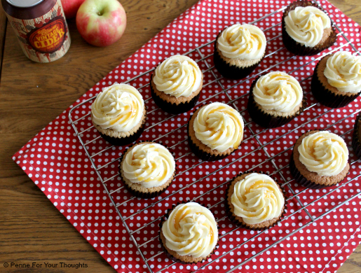 Apple Cider & Toffee Cupcakes