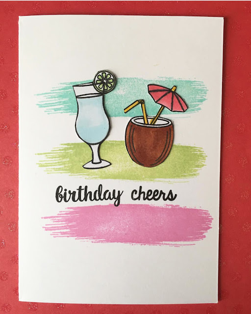 Sunny Studio Stamps: Tropical Paradise Birthday Cheers card by Mary Borg