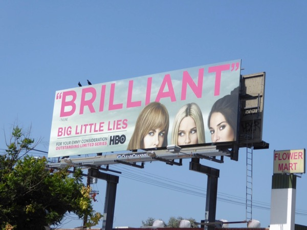 Big Little Lies Brilliant 2017 Emmy billboard